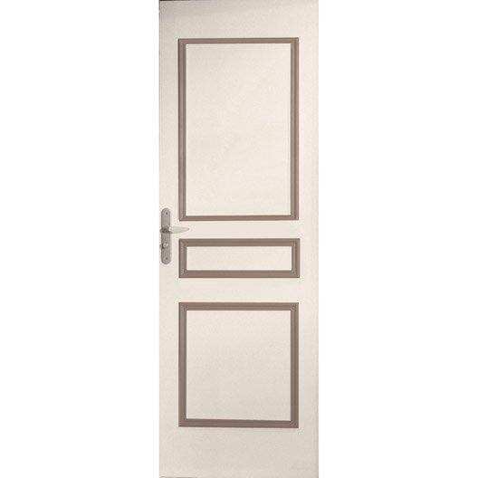 D cor de porte de 3 panneaux assembl s traverse droite bois leroy merlin - Leroy merlin porte bois ...