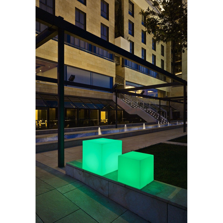 Cube Décoratif Extérieur Cuby 45 Cm LED 3.25 W U003d 220Lm, Multi Couleurs  NEWGARDEN