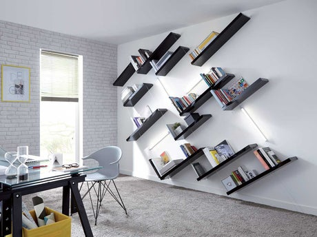 r aliser une biblioth que inclin e leroy merlin. Black Bedroom Furniture Sets. Home Design Ideas