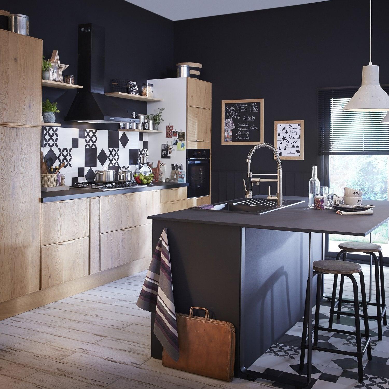 Cuisine Leroy Merlin - Cuisiniere electrique 3 feux pour idees de deco de cuisine