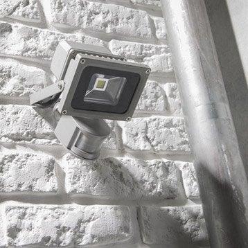 Projecteur à fixer à détection extérieur Yonkers LED intégrée aluminium INSPIRE