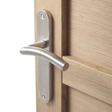 2 poignes de porte margaud sans trou inspire acier inoxydable 195 mm