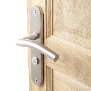 Poign e de porte int rieure poign e chambre wc salle de bain bureau au meilleur prix - Castorama poignee de porte ...