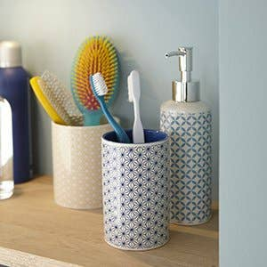 Accessoires et miroirs de salle de bains leroy merlin for Accessoire salle de bain dore