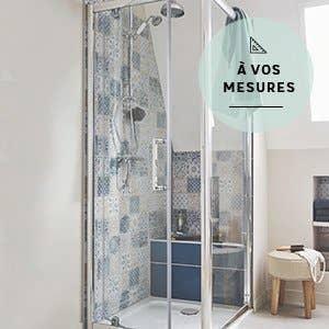 porte de douche - Leroy Merlin Salle De Bain Douche Italienne