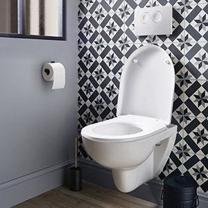 Wc abattant et lave mains toilette leroy merlin for Carrelage wc leroy merlin
