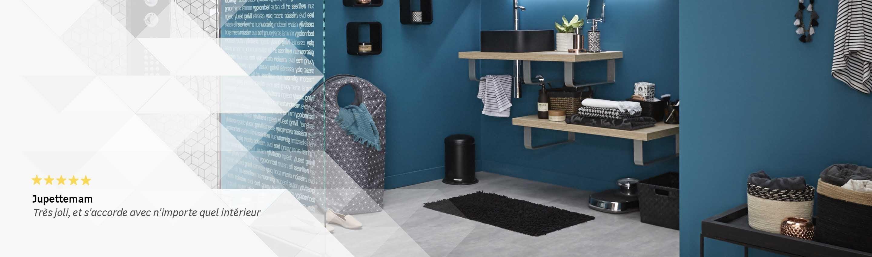 Meuble bas salle de bain avec panier linge intgr cool - Colonne salle de bain avec panier a linge ...