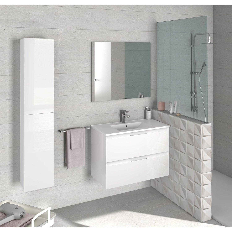 Vasque Sur Pied Avec Meuble meuble sous-vasque l.79.5 x h.55.5 x p.45 cm, blanc, talia