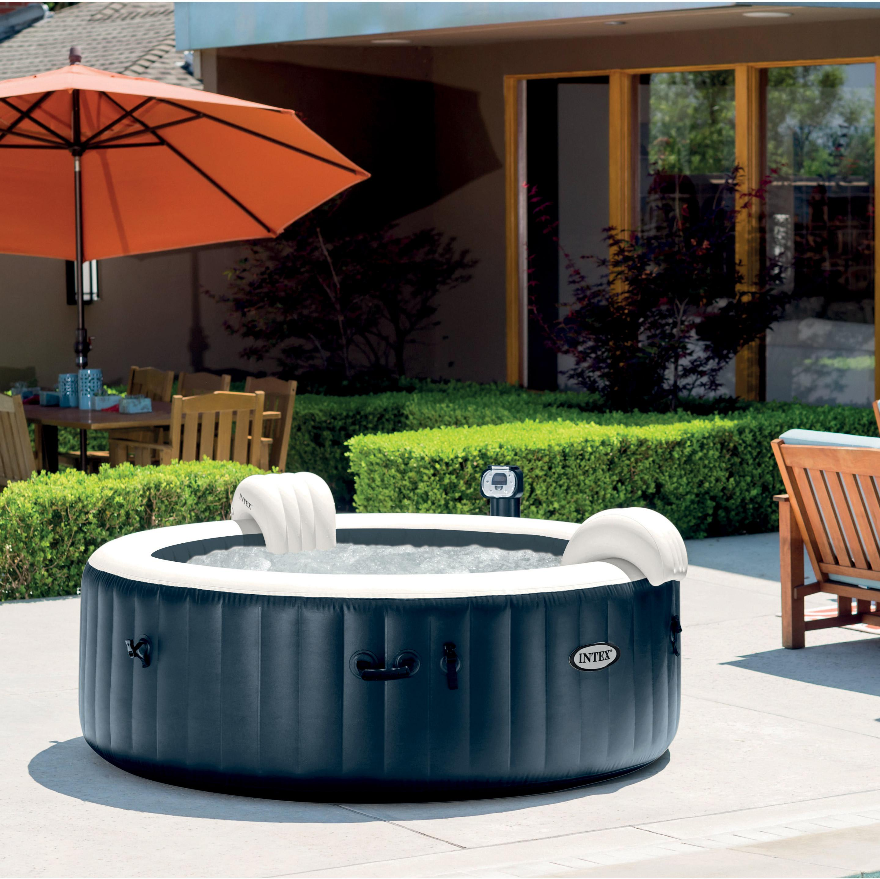Installer Spa Gonflable Exterieur spa gonflable intex purespa led rond, 6 places assises
