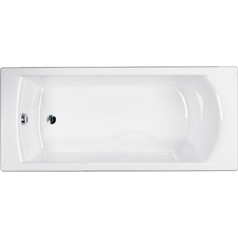 Baignoire rectangulaire L.170x l.75 cm blanc, JACOB DELAFON Urban ... 9de4a472d64d