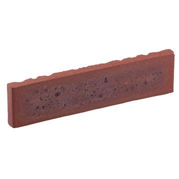Plaquette de parement terre de rose terre cuite, TERCA, Ep.15 mm