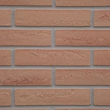 Plaquette de parement pierre naturelle marron clair Elastolith