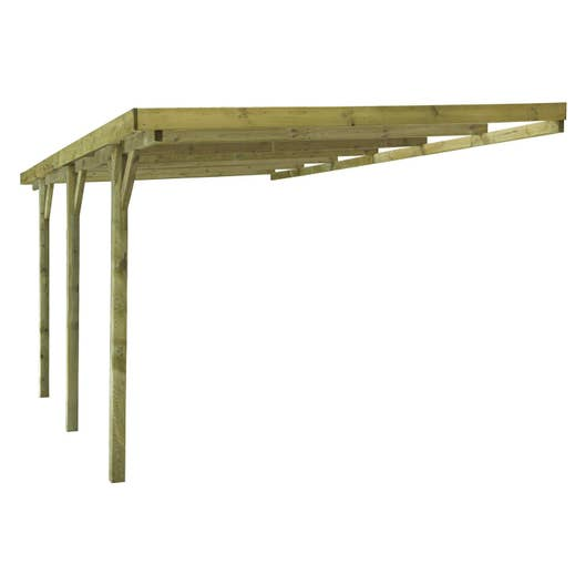 carport bois gus 1 voiture m leroy merlin. Black Bedroom Furniture Sets. Home Design Ideas