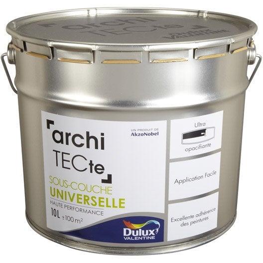Sous couche universelle architecte dulux valentine 10 l leroy merlin - Dulux valentine architecte ...