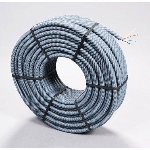 Gaine pr fil e d 39 installation 4 x 2 5 mm m leroy - Diametre fil electrique ...
