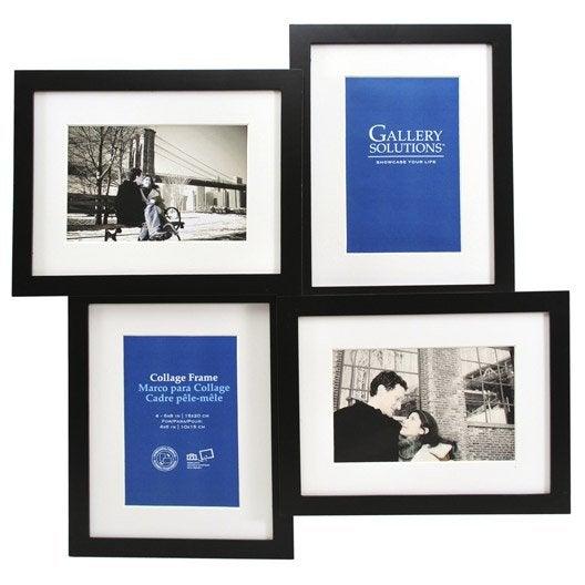 cadre multivue 4 vues 10 x 15 cm noir leroy merlin. Black Bedroom Furniture Sets. Home Design Ideas