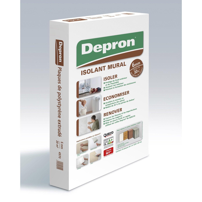 Carton De 10 Plaques Mur Depron L 2500 X L 800 Mm Ep 6 Mm Leroy