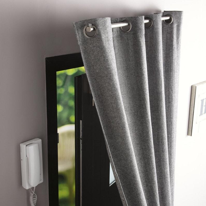 Barre à rideau pour porte Ib+ 100 cm pour rideau à œillets Diam. 20 ...