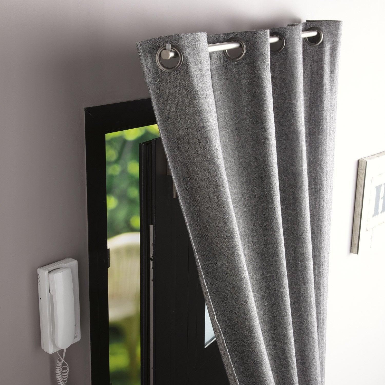 Barre Pour Rideau De Porte D Entrée barre à rideau pour porte ib+ 100 cm pour rideau à œillets diam. 20
