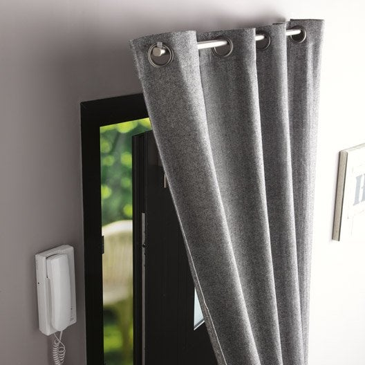 kit de tringle rideau mm m tal ib leroy merlin. Black Bedroom Furniture Sets. Home Design Ideas
