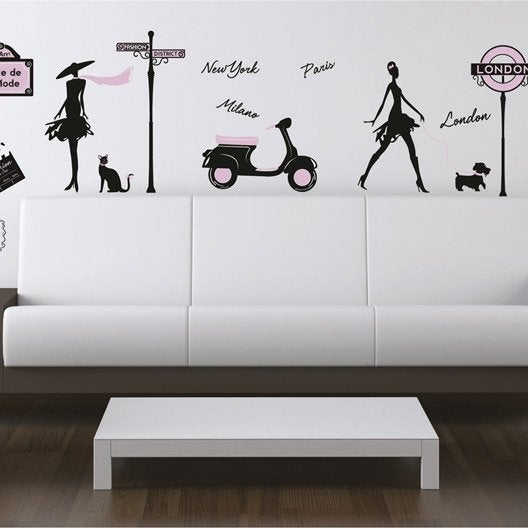 sticker world fashion 50 x 70 cm leroy merlin. Black Bedroom Furniture Sets. Home Design Ideas