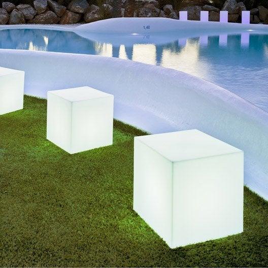 Cube d coratif ext rieur cuby 32 cm e27 25 w 880 lm for Location eclairage exterieur