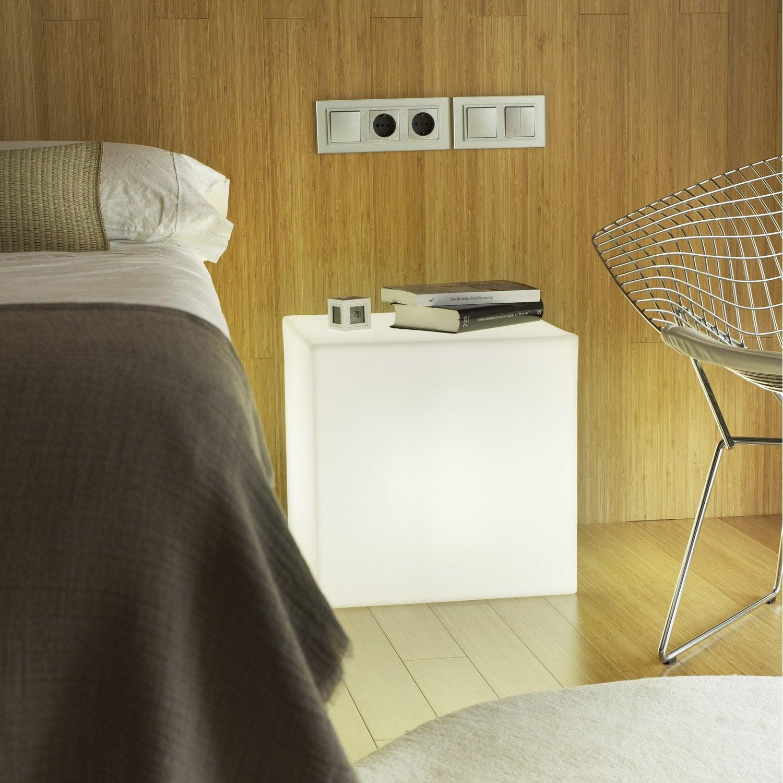 elegant cube dcoratif extrieur cuby cm e w ud lm blanc. Black Bedroom Furniture Sets. Home Design Ideas