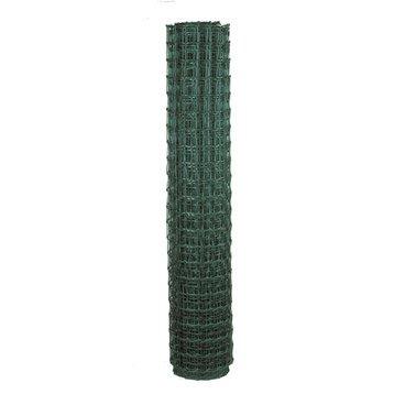 Grillage maille vert H.1.2 x L.20 m, maille de H.48 x l.33 mm