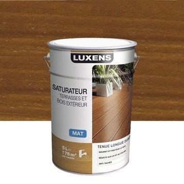saturateur bois luxens teck aspect mat 5 l. Black Bedroom Furniture Sets. Home Design Ideas