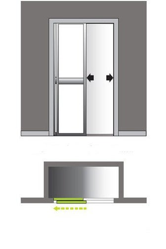 Porte de placard coulissante