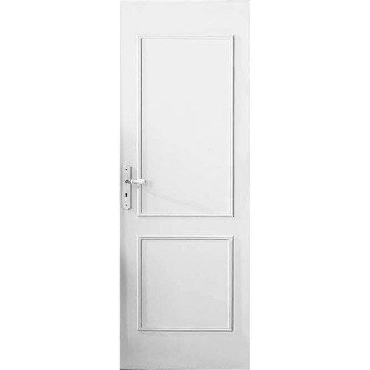 D cor de porte de 2 panneaux traverse droite vernir for Plaque decorative porte