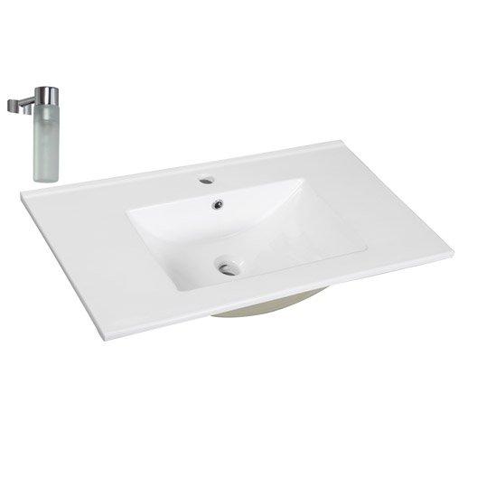 Lavabo vasque et plan vasque pour salle de bains meuble - Plan salle de bain leroy merlin ...