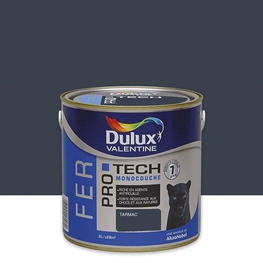Peinture fer ext rieur protech dulux valentine tarmac 2 l leroy merlin for Peinture couleur zinc