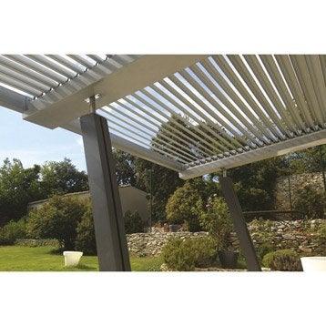 Lames aluminium Boston luxe gris l.400 x L.400 cm