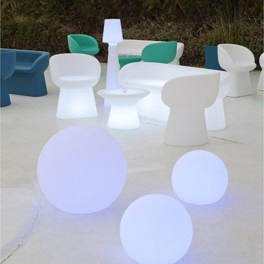 Boule d corative ext rieure 60cm led multi for Eclairage exterieur boule lumineuse