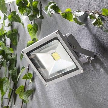 Projecteur à fixer extérieur Yonkers LED intégrée 20 W = 1500 Lm, aluminium INSP