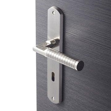 2 poignées de porte Eden trou de clé, zamak, 195 mm