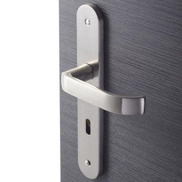 2 poignées de porte Lena trou de clé, zamak, 195 mm
