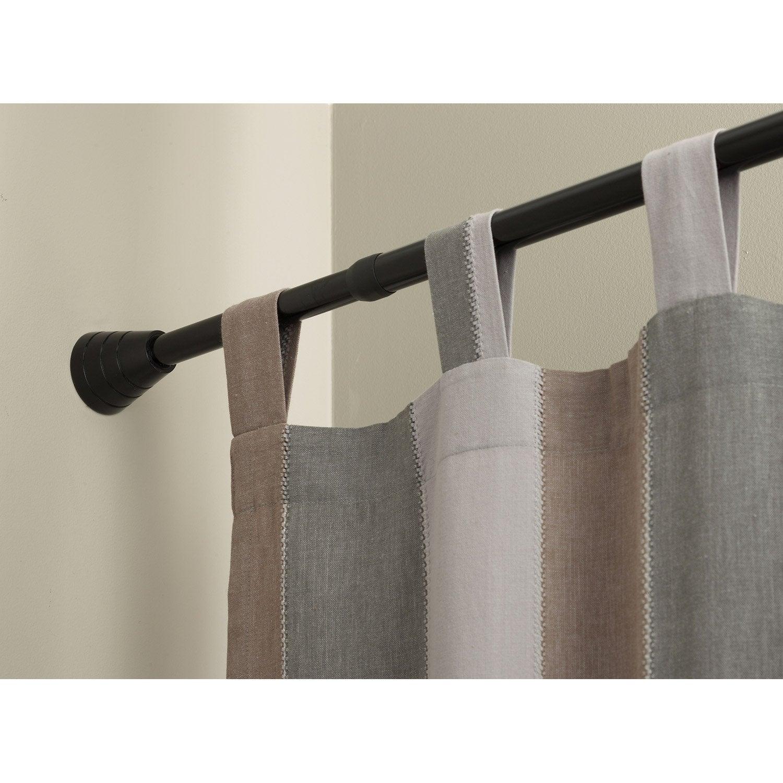 Tringle à rideau City noir mat de 57 à 87 cm IB+ | Leroy Merlin