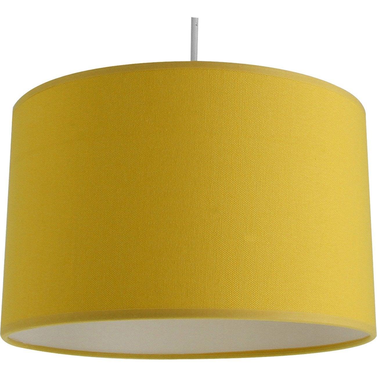 suspension e27 moderne natt coton jaune serin n 4 1 x 60w w metropolight leroy merlin. Black Bedroom Furniture Sets. Home Design Ideas