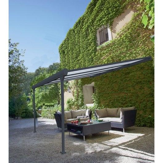 pergola adoss e leader aluminium gris anthracite 12 m. Black Bedroom Furniture Sets. Home Design Ideas