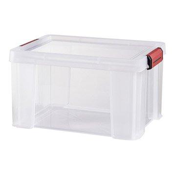 Boîte plastique , l.29 x P.38 x H.22 cm