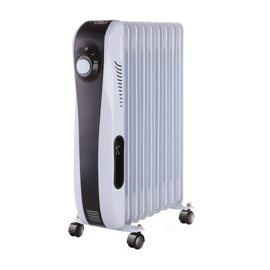 radiateur bain d 39 huile lectrique daewoo doh b299m 2000 w leroy merlin. Black Bedroom Furniture Sets. Home Design Ideas