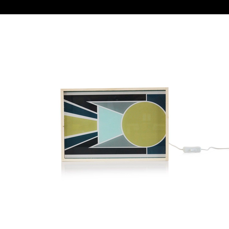 Objet lumineux, led intégrée Dada light, synthétique multicolore, 9.6 W
