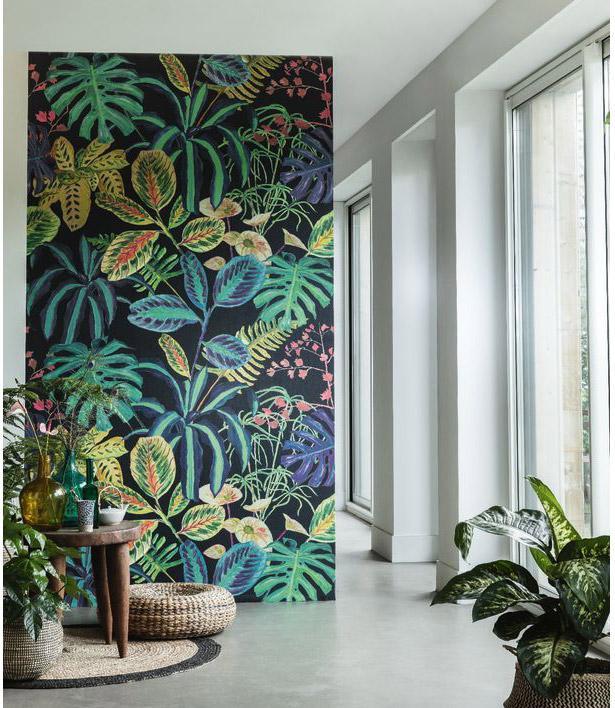 Papier Peint Intissé Jungle Panoramique Tropicwall Multicolore