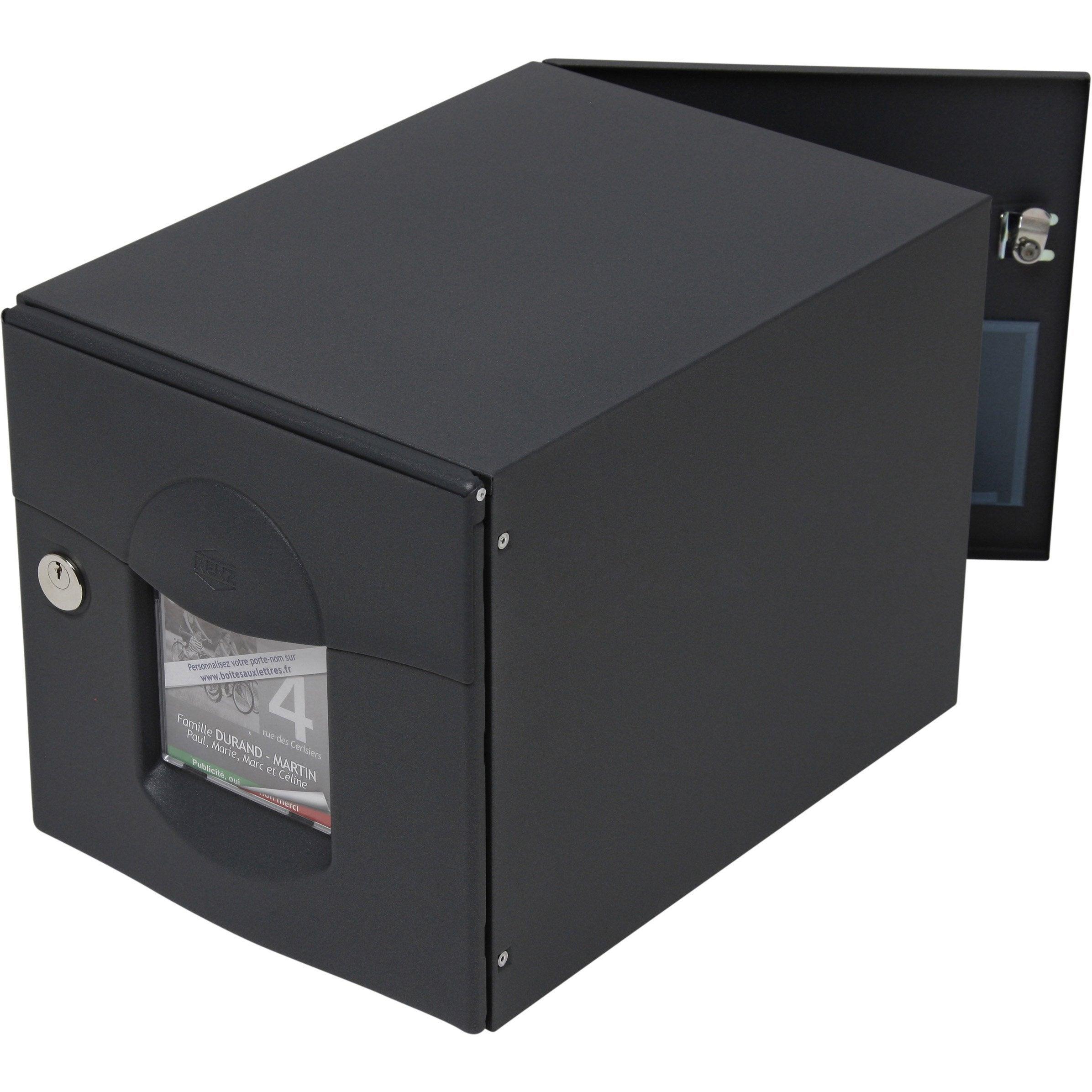 Audacieuse Boîte aux lettres normalisée 2 portes extérieur RENZ acier PC-16