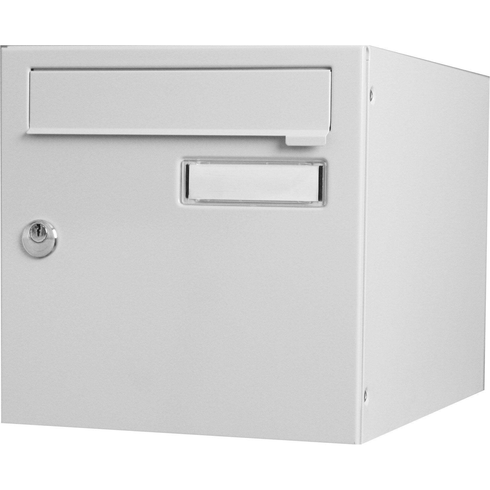Nouveau Boîte aux lettres normalisée 1 porte extérieur RENZ acier gris DA-49