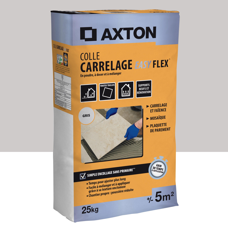 Mortier Colle Poudre Axton Easy Flex Gris 25 Kg 5 M²