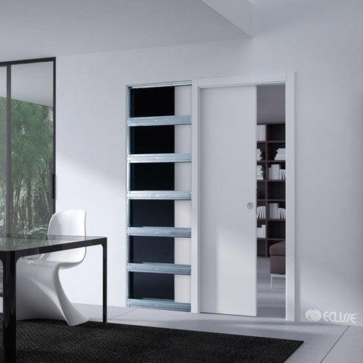 syst me galandage aluminium avec frein eclisse pour porte de largeur 73 cm leroy merlin. Black Bedroom Furniture Sets. Home Design Ideas