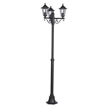 Lampadaire extérieur Laterna E27 60 W, noir EGLO